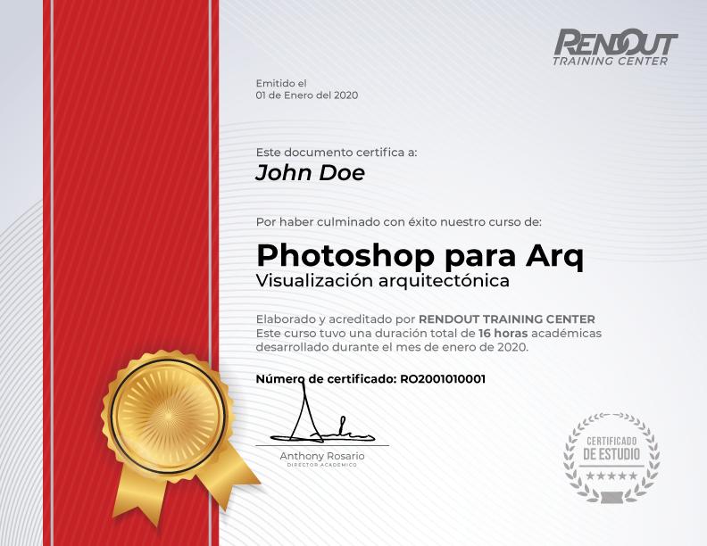 Certificado que recibirás al finalizar nuestro curso de AutoCAD