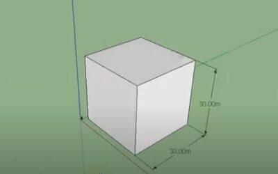 Cambiar escala de mobiliario en Sketchup